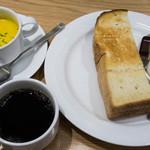 トラッツィオーネ ナゴヤ ウィズ カゴメ - トーストセットA+本日のスープ