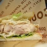 山城珈琲 - 2014年11月 ゆずおろしソースの若鶏サンド。めっちゃジューシー(´▽`)