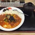 松屋 - 夏野菜チーズトマトカレー 並 530円