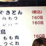 あべちゃん 麻布十番店 - メニューの一部です