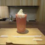 39045971 - 甘酒いちごフロート 600円(税別)