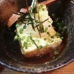 一献 - 揚げ出し豆腐350円