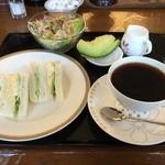 桜珈琲 - ふわふわサンドイッチモーニング