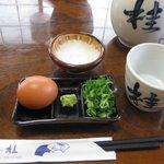 そば処 桂. - 皿そば(5皿)セット¥840(薬味はねぎ・玉子・トロロ)