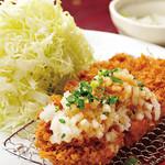 坂井精肉店 - 葱おろしロースかつ定食