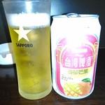 39056364 - マンゴービール¥450 アルコール2.8% 果汁5%☆♪