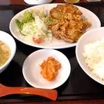 39056373 - 鶏から揚げ定食¥730(税込)☆♪
