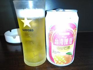 台流屋台 御気樂 - マンゴービール¥450 アルコール2.8% 果汁5%☆♪