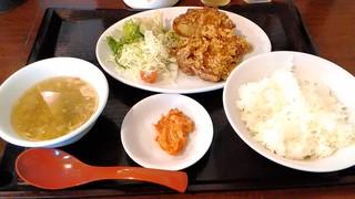 台流屋台 御気樂 - 鶏から揚げ定食¥730(税込)☆♪