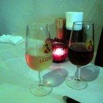 ロス・ピンチョス - シェリー酒。フィノ(細君)、オロロソ(私)で乾杯♪