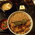 芝の鳥一代 - きじ焼き丼 750円