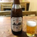 大和家 - ビール 648円。