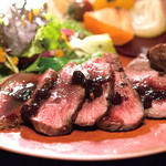 南あわじ美食農園オリザ - 淡路産鹿のステーキ ブルーベリーソース
