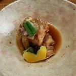 御料理 はやし - 『焚き合わせ』!!鯛のあら焚きに カボチャ、牛蒡、インゲンが添えられていた~♪(^o^)丿
