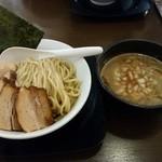 自家製麺ばくばく - 【2015/6】チャーシューつけ麺(大)+味玉