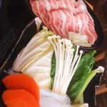 銀座しゃぶ通 好の笹 - 野菜とお肉