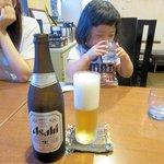 ステーキハウスダヂ - ビール中瓶2015.06.15