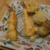 天串 魚串 ひさご - 料理写真:海老マヨ2本、野菜串(カボチャ、ジャガイモ、ごぼう)