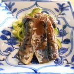 オリベ - 白瓜の雷干しとイワシのオリベ煮