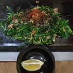 廣末屋 - 廣末屋(高知県香南市夜須町)ニラ塩焼きそば600円