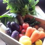 やきとん くう - 契約農家から仕入れる有機野菜…!