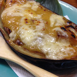 39084273 - 米ナスを味噌とチーズでグラタン風に。