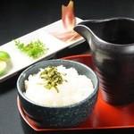 神戸豚と産直野菜バル CACHETTE - やくみ茶ずけ