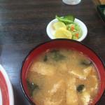 中華料理 ポパイ - 定食の味噌汁