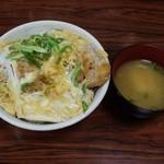 どんぶり安兵衛 - かつ丼&味噌汁600円