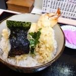てんぐ - 料理写真:2014年12月 天丼【900円】ごはんは見えて欲しくなかった~(´Д`)