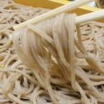 蕎麦屋 まんきち - お蕎麦の持ち上げ☆