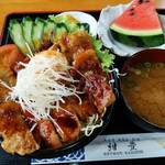 紺豊 - 料理写真:三河ポークのスタミナ丼 1080円 どんぶり街道