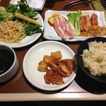 カルビガーデン - お得なディナーセット@1393円の全体像