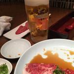 松庵 韓菜房 - LINE登録でサービスの生ビール(^∇^)