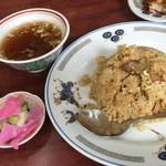 琉菊 - チャーハン、一口カツセットのチャーハン