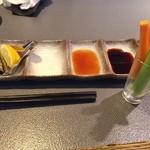 創作串の店 りんどう - 野菜スティック&ソースたち♪