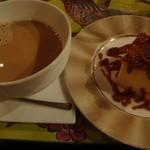 Kafesentoraru - キャラメルチーズケーキ、カフェオレ