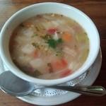森の中の朝食とカフェの店 キャボットコーヴ - 具沢山の野菜スープ ボールサイズ