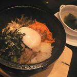 39109370 - 石焼きビビンバ、若布スープ