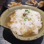 天雷軒 九段下 - セットのご飯で雑炊