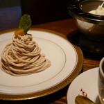 菊竹珈琲堂 - 【モンブランケーキセット】フランス産渋皮マロンクリームを使った手作りケーキ。注文を受けてからお作りいたします♪