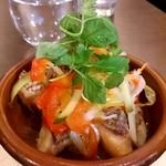 パタジェ - 鯛のエスカベッシュ600円。揚げた鯛を酢でマリネ。美味!夏にピッタリ冷製。