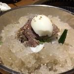 韓国家庭料理 おこげ - 2015年7月/スープがシャーベット状の冷麺