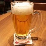 銀座ライオン - 生ビール(中)。