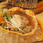 目利きの銀次 - カニ味噌甲羅盛り