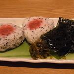 厨 一里 - 〆のおにぎりセット(300円)