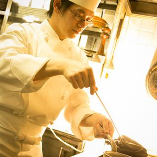 お料理は『心』が大切。一つ一つ丁寧に仕上げます。