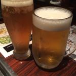 千日前 李休 - ビールとシャンディーガフで乾杯!