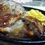 三浦のハンバーグ - くぱぁ~ 肉汁スゴイです。