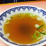 東菜館純ちゃん - ご飯物に付くスープ